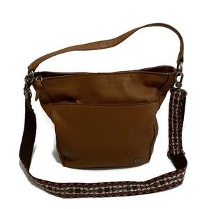 The Sak Brown Leather Cole Valley Hobo Bag Purse